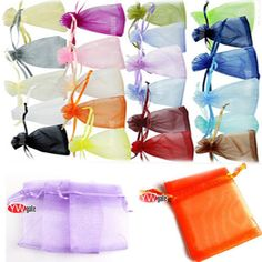 50x 7x9cm Organza Gift Bag Jewelry Pouch Wedding Favor Pick Color Free Shipping | eBay