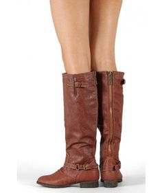 Breckelle Outlaw-11 Buckle Riding Knee High #Boot