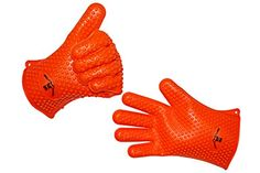 Silicone Gloves Heat Resistant for Cooking, Grilling, BBQ, Oven, Available Sizes XL & One Size Fits Most (Orange, One Size Fits Most) GrillaGlovesTM http://www.amazon.com/dp/B00T0RT6AO/ref=cm_sw_r_pi_dp_KYVNvb1HDCRMM