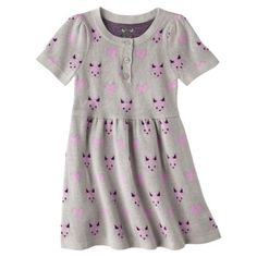 Infant Toddler Girls' Short-Sleeve Knit Fox Dress