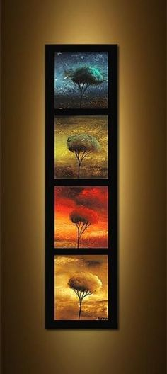 Original abstract art paintings by Osnat - abstract landscape colorful sunset painting Canvas Painting Landscape, Landscape Art, Tree Art, Beautiful Paintings, Abstract Art, Abstract Trees, Abstract Portrait, Canvas Art, Decorative Paintings