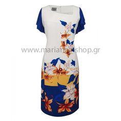 Φόρεμα εμπριμέ μίντι.Είναι σε ίσια γραμμή εμπριμέ με λοξό καρέ και μανίκια μουσελίνα. Μήκος 101 εκ. μήκος μανικιού 16 εκ.Ελληνική ραφή. Casual Looks, Bodycon Dress, Dresses For Work, Shopping, Fashion, Moda, Body Con, Fashion Styles, Fashion Illustrations