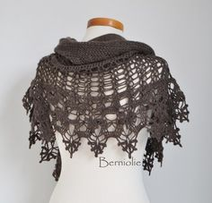 THIS LISTING IS FOR THE PATTERN ONLY  Beautiful lace crochet shawl. Very elegant. This is a great addition to every wardrobe.  Perfectly wearable on that lovely summer dress, when it get a bit chilly