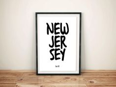New Jersey US State Instant Download Home State Poster Printable Wall Art Print Home Décor Gift United States College Room Design