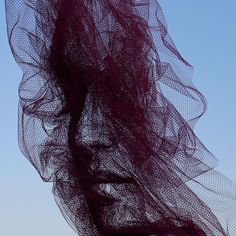 Tulle Portraits by Benjamin Shine // contemporary sculpture