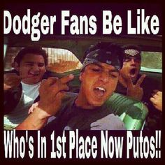 1st place baby!!! Go Dodgers!
