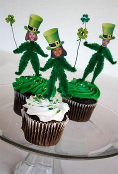 Leprechaun Cupcake Toppers
