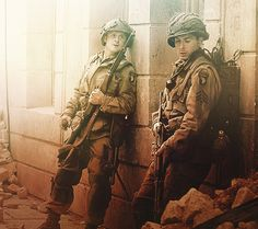 Hoobler and Luz <3 Carentan, Band of Brothers, awesome mini-series....