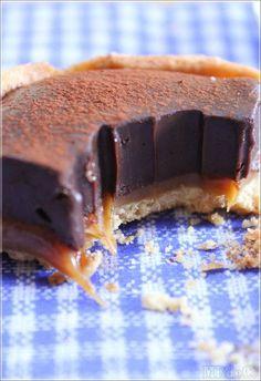 Tartelettes au chocolat et caramel beurre salé