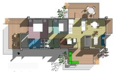 And the floor plan - ditch one bathroom for flex room - Prefab Sustainable Housing Made From Recycled Shipping Contain...