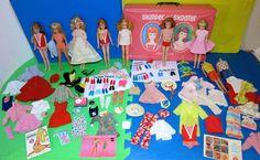 Vintage 1960's Barbie SKIPPER DOLLS & CLOTHES LOT 100+ Pieces!