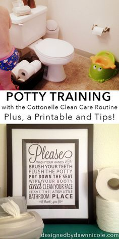 "Potty-training with the Cottonelle Clean Care Routine (Plus, a Bathroom Rules Printable and 10 Tips from ""Been There, Done That"" Parents)"