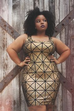 You know what I love about this picture? It's not the color of her skin, the size of her body, or the pattern of her dress. It's that she is confident and knows she is beautiful. I think that is the biggest factor in beauty.