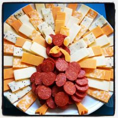 Thanksgiving meat and cheese tray