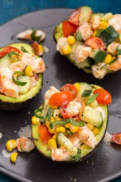 Shrimp Salad Stuffed AvocadosDelish