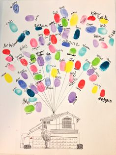 Good-bye gift for the Jobling family. House drawn by Julie Groves.
