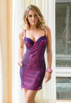 Coquette Colour Me Pretty Mesh Chemise £32.99 A stunning Mesh chemise by Coquette. With lace over satin push up moulded underwire cups and centre front panel.  www.townoftoys.co.uk