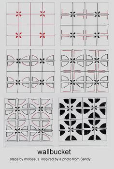 WallBucket-Tangle Pattern ~ Designed by Sandra Strait