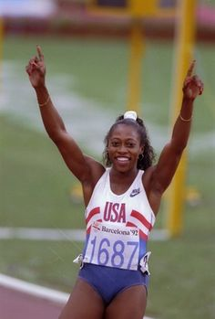 Gail Devers is a three-time Olympic track gold medalist, winning two gold medals in the 100m (1992 and 1996) and one in the 4X100m relay in 1996. #TitleIX