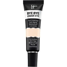 Bye Bye Under Eye Full Coverage Anti-Aging Waterproof Concealer is a waterproof, full coverage concealer for dark circles and under eye bags. Age Rewind Concealer, It Cosmetics Concealer, Best Concealer, Under Eye Concealer, Cream Concealer, Bye Bye, Waterproof Concealer, Full Coverage Concealer, Makeup Collection