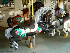Hand Carved Wooden Carousel Horses | ... horses. You can find them with or without a saddle, and in a variety
