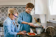 Stock Photo : Grandmother and grandson preparing food Stock Photos, Lifestyle, Food, Essen, Meals, Yemek, Eten