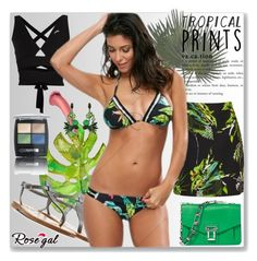 """""""Palm Leaf Print High Neck Bikini"""" by polyvore-275 ❤ liked on Polyvore featuring Proenza Schouler, K. Jacques, Isadora and Erickson Beamon"""