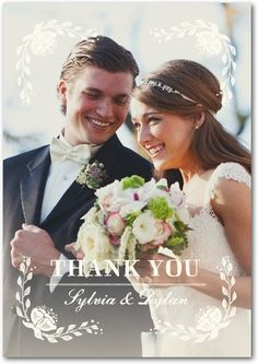 Wedding thank you card by Wedding Paper Divas