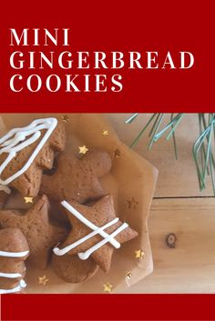 These mini gingerbread cookies are a spicy holiday treat that combine ginger, spices, molasses and sugar to make crisp cookies.