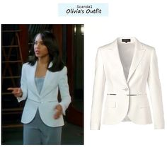 "Kerry Washington as Olivia Pope in Scandal - ""Molly, You in Danger, Girl"" (Ep. 218). Olivias Outfit: Escada Spring/Summer 2013 Birna Jacket here 
