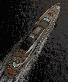 rossinavi and pininfarina design sports car-inspired super yacht Yacht Design, Boat Design, Fort Lauderdale, Ibiza, Yatch Boat, Luxury Yacht Interior, Yacht World, Sport Boats, Fast Boats