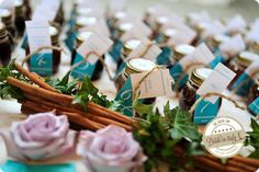 Jam jars as escort cards. Ph Reporter Photo http://www.brideinitaly.com/2013/12/sandra-aosta.html #italianstyle #wedding