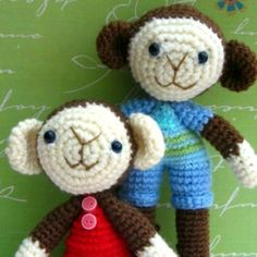 Boy and Girl Monkey Amigurumi