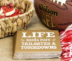 Gearing up for a weekend full of football? You need these fun beverage napkins! #tailgate #football #fridaynightlights #gameday