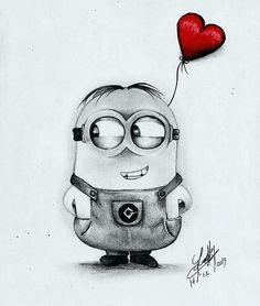 √ Images of Minions Funny, Cool, and Minion Pictures Complete Minion Sketch, Minion Drawing, Minion Art, Cute Minions, Cartoon Pencil Drawing, Disney Drawings Sketches, Cartoon Sketches, Cool Art Drawings, Easy Drawings