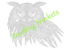 Archibald The Owl CYO Papercut Template by TreefrogsTrinkets