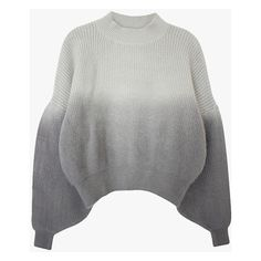 Half & Half Gray Cropped Sweater ($84) ❤ liked on Polyvore featuring tops, sweaters, grey, grey crop top, grey sweater, gray top, grey top and cropped sweater