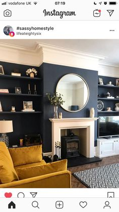 Fireplace built in Fireplace built in Related posts:Bunting for a dormWelcoming And Cozy Christmas Entryway Decoration Design by Imperfect Interiors at this Victorian terraced house in Balha. Sitting Room Decor, Living Room Decor Cozy, Interior Design Living Room, Living Room Designs, Interior Livingroom, Navy Living Rooms, New Living Room, Home And Living, Small Living