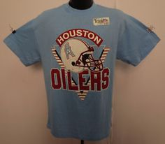 HOUSTON OILERS VINTAGE LARGE SHIRT RETRO TRENCH USA NFL FOOTBALL MOON  CAMPBELL 302aeaac0