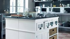 & & & & A kitchen in white which has everything to please ! Modern Decor, Kitchen Island, Kitchen Decor, Design, Home Decor, Decoration, Gray, White People, Dekoration