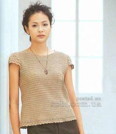 женская футболка вязаная крючком со схемами