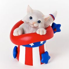Charming Purrsonalities Patriotic Kitten Figurine (Purr-Fectly Patriotic)+