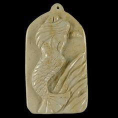 BG18805 100% Natural Hand Carved Gemstone Mermaid by Artiststone