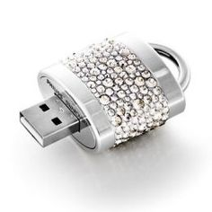"""- Philips and Swarovski teamed up to make a collection of fashionable jewelry gadgets called """"Active Crystals"""" that work as USB drives and earphones. Bling Bling, Usb Drive, Usb Flash Drive, Computer Gadgets, Sparkles Glitter, Glitz And Glam, Cool Gadgets, Tech Gadgets, Girly Things"""