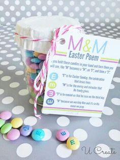 M&M Easter poem - Jesus put together for congregation