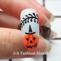 Halloween Nail Designs ✰A Fashion Star✰ - Fingernägel - halloween nails Acrylic Nail Designs, Nail Art Designs, Acrylic Nails, Star Designs, Halloween Nail Designs, Halloween Nail Art, Halloween Horror, Halloween Makeup, Creepy Halloween