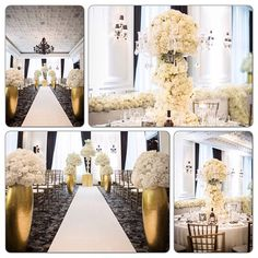 Crushing on all the elements of this wedding! Especially the huge touches of gold in the ceremony! Wedding by Platinum Events Group #platinumeventsgroup #weddingwednesday #reception #centerpieces #bride #bridetobe #wedding #weddingideas #weddinginspiration #engaged #weddingplanning #instaglam #fiancé #weddingcountdown #futuremrs #beautiful #squareready #imgettingmarried #thecoordinatedbride