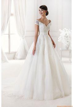 Preiswerte Brautkleider München aus Softnetz mit Spitze