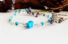 Artisan Rainbow: Turquoise Swarovski Necklace by Vie Beads Jeweller...