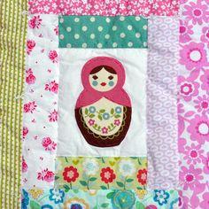 baby burrito quilts: Matryoshka quilt III